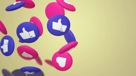 polegar : The 3d rendering Thumbs up and heart  social media icon.