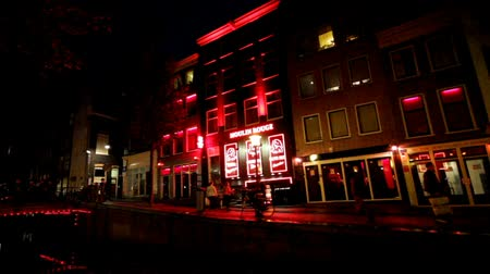 kerület : Red light district in Amsterdam the Netherlands