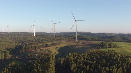 moinho de vento : Aerial from windmills in the countryside from Portugal