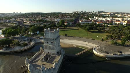 portugalsko : Aerial from the tower of Belem in Lisbon Portugal