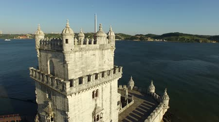lisboa : Aerial from the tower of Belem in Lisbon Portugal
