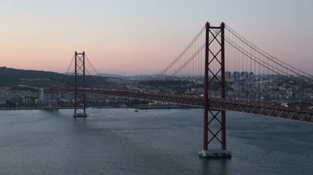 lisboa : 25 abril bridge in Lisbon Portugal at sunset