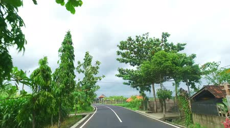 Driving in the countryside from Java Indonesia Wideo