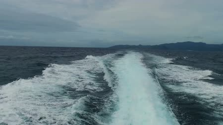 Cruising at high speed on the Bali sea Indonesia Wideo