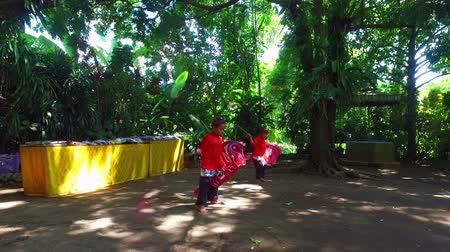 Traditional dance on Java Indonesia by kids