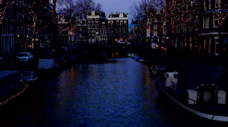 Amsterdam at christmas time in the Netherlands