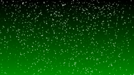 hóesés : Loopable Snowing Animation. Green Background
