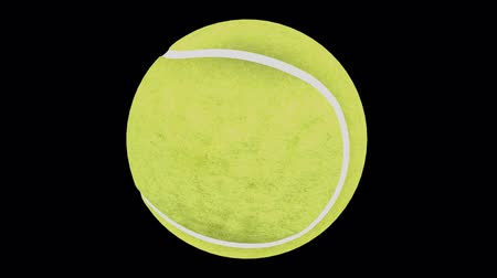 rekreasyon : Seamless loop Tennis Ball Animation 1. Alpha matte, isolated on black