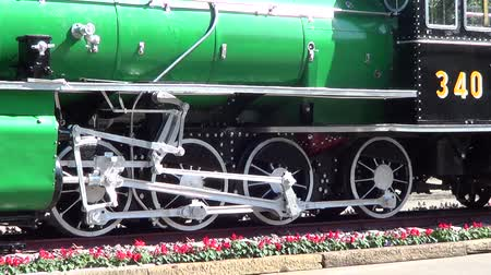lokomotif : Steam locomotive, on chiangmai railway station
