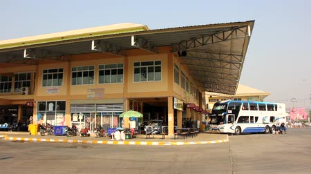 nan : CHIANG MAI, THAILAND - FEBRUARY  28 2015:  New building of New Chiang Mai bus station. footage at Chiangmai bus station, thailand.
