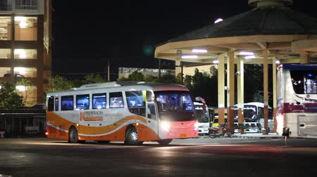 CHIANG MAI, THAILAND - NOVEMBER 22 2017: New Scania bus of Prempracha company. Route Mae hong son and Chiangmai. Photo at Chiangmai bus station, thailand.