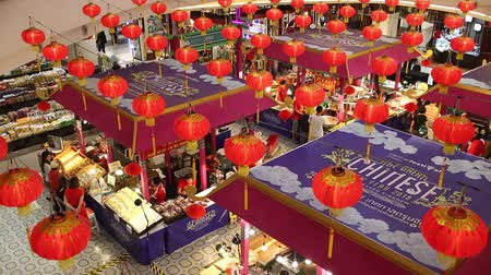 CHIANG MAI, THAILAND -FEBRUARY 12 2018: China NewYear Food  Area. Inside of Central Festival Chiangmai. 3 Km. from Chiangmai City, Thailand.