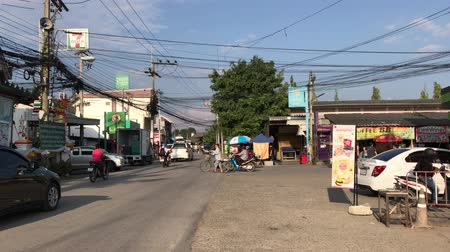 Chiangmai, Thailand - November 6 2019: Local road in Phudoi Market. Local Market in Urban fringe of chiangmai city.