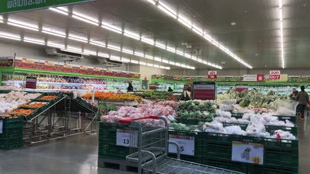 Chiangmai, Thailand - December 27 2019: Inside of Makro supermarket. Footage of Makro Mae Rim in Chiangmai, Thailand. Stock Footage