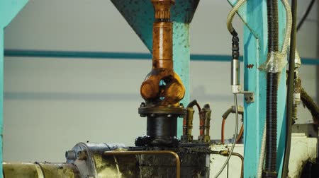 fortalecimiento : Close up of work of the production machine in the plant