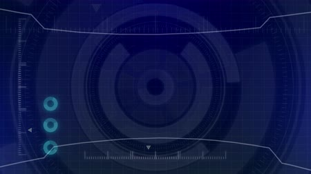 Futuristic digital HUD Technology user interface, Radar screen with various technology elements business communication innovation concept Stock Footage