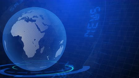 global earth rotating Digital World News Studio Background for news report and breaking news