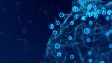 Abstract Network connection concept creative motion graphic background with hacker code running Stock Footage