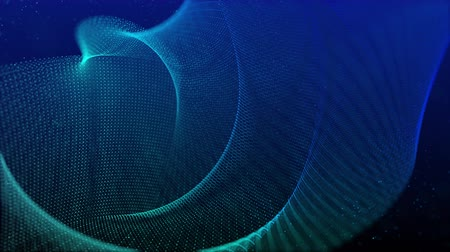 визуализация : beautiful abstract wave technology background with blue light digital effect corporate concept