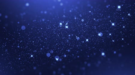 luxury blue particle glitter abstract background for happy new year and merry christmas festive season Stock Footage