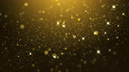luxury gold particle glitter abstract background for happy new year and merry christmas festive season Vidéos Libres De Droits