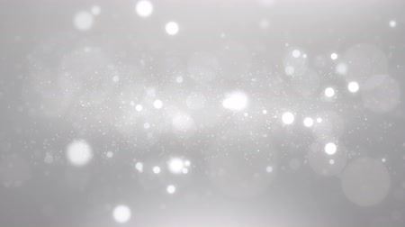 luxury white silver particle glitter abstract background for happy new year and merry christmas festive season with middle light ray Stock Footage
