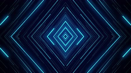 blue neon light abstract visual geometry motion graphic technology digital concept