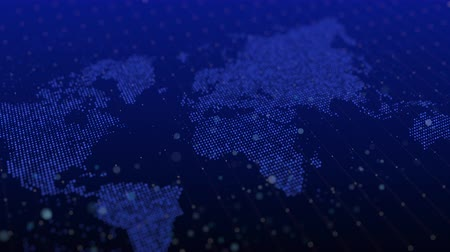 digital world map future cyber abstract background big data technology Stock Footage