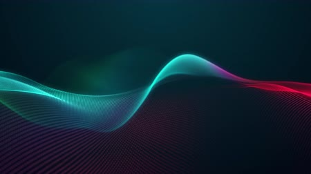 matriz : beautiful abstract wave technology digital network background with blue light digital effect corporate concept green red color