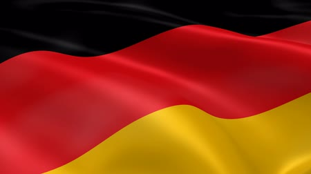 almanca : German flag in the wind. Part of a series. Stok Video