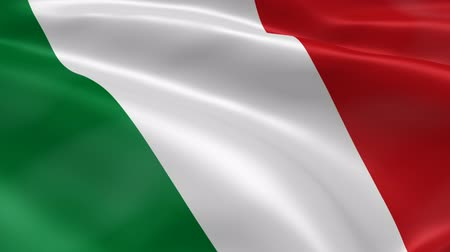 İtalyan : Italian flag in the wind. Part of a series.