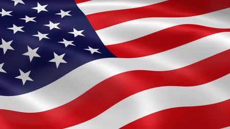old glory : American flag waving in the wind. Part of a series. Stock Footage