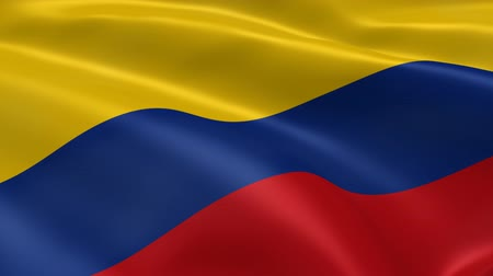 kolombiya : Colombian flag in the wind. Part of a series.
