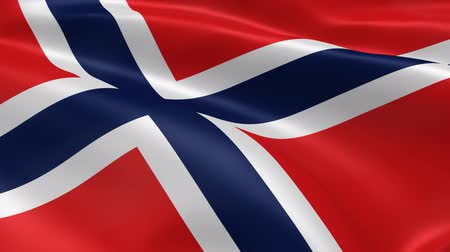noruega : Norwegian flag in the wind. Part of a series.