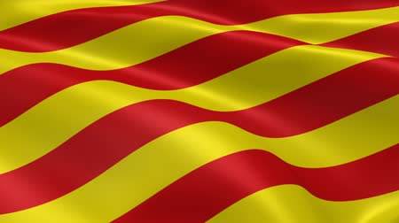 Каталония : Catalonian flag in the wind. Part of a series.