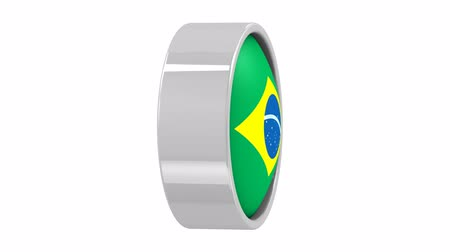 brazília : Brazilian flag with circular frame. Part of a series.