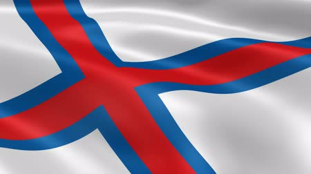 torshavn : Faroese flag in the wind. Part of a series.