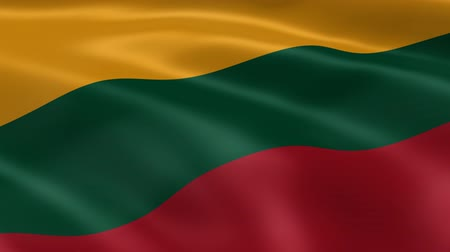 litvánia : Lithuanian flag in the wind. Part of a series.