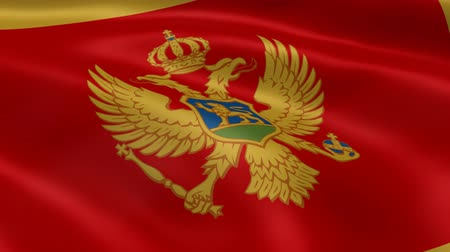 Черногория : Montenegrin flag in the wind. Part of a series.