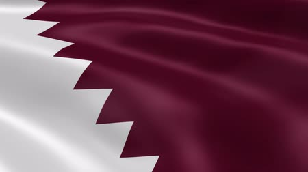 bandeira : Qatari flag in the wind. Part of a series. Vídeos