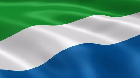 sierra leone flag : Sierra Leonean flag in the wind. Part of a series.