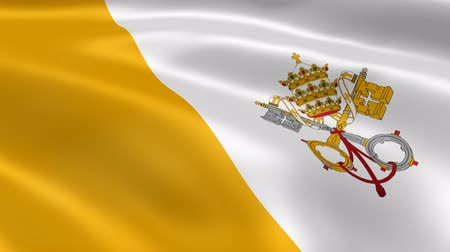 watykan : Vatican City flag in the wind. Part of a series.