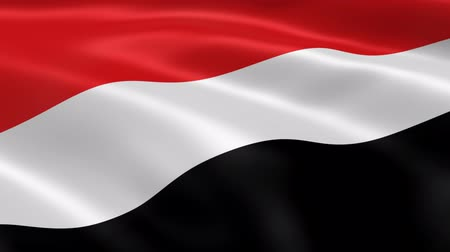 yemen : Yemeni flag in the wind. Part of a series.