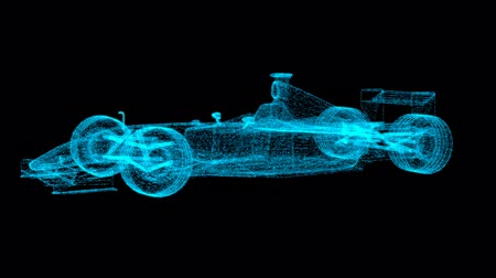 formuła : Formula One light effect on a black background Wideo