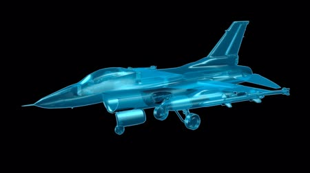 katonai : Jet Fighter Aircraft light effect on a black background