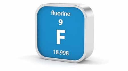 atomový : Fluorine material on the periodic table. Part of a series.