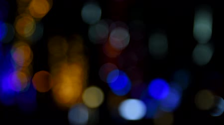 colore : Blurred background with twinkling night street lights