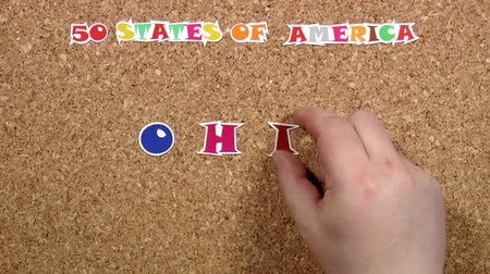 rajzszeg : Video shows word Ohio is one of the states of America on the cork