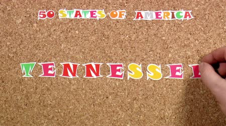 rajzszeg : Video shows word Tennessee is one of the states of America on the cork