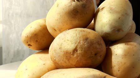 skins : Video shows pile of potatoes rotating close-up